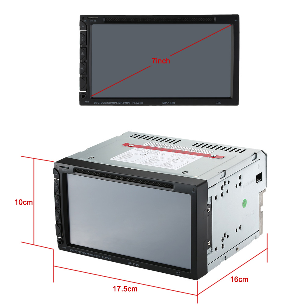Car Radio AutoRadio DVD Player 7 inch In-dash Stereo Video 2din DVD/USB/SD/MP4 Player Bluetooth FM/AM Radio for Nissan Toyota автомобильный dvd плеер joyous kd 7 800 480 2 din 4 4 gps navi toyota rav4 4 4 dvd dual core rds wifi 3g