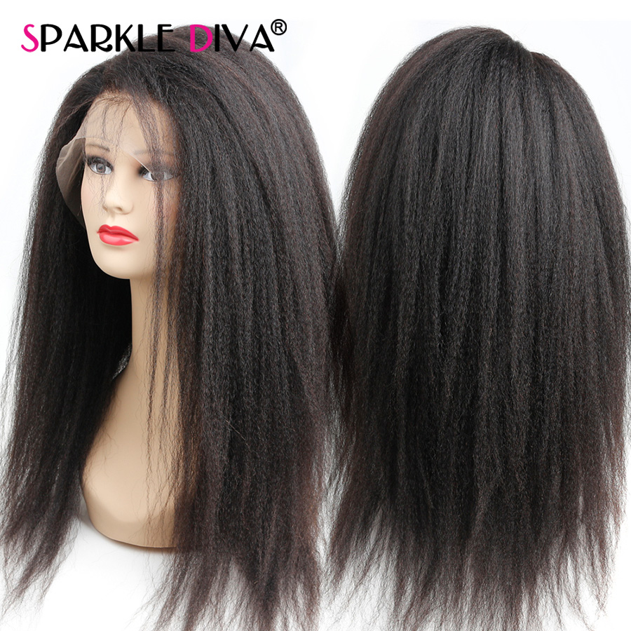 Image 2 - 360 Lace Frontal Wig Kinky Straight Lace Wig Brazilian Human Hair Wigs 150% Density Remy Lace Frontal Human Hair Wigs For Women-in Human Hair Lace Wigs from Hair Extensions & Wigs