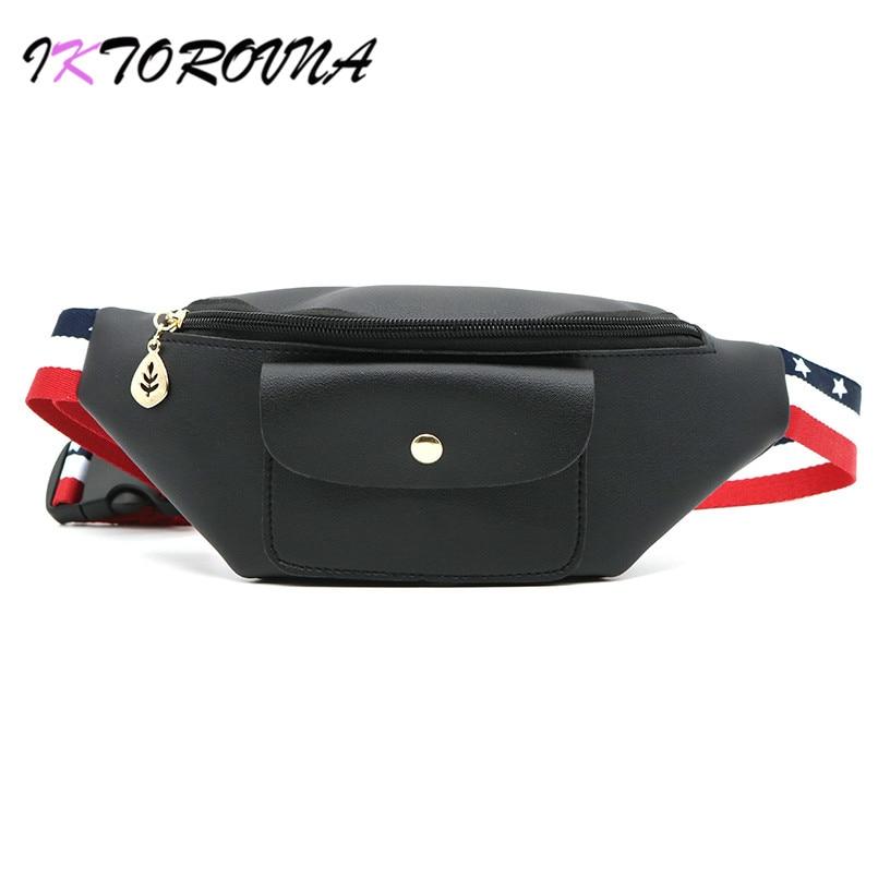 para Cintura empaqueta Mujer IKTOROVNA moda el Cintura Fanny cuero Packs Pu Baratos de nueva calidad alta Bolso correa mujeres Mujer Bolso Online Comprar Hzadgz