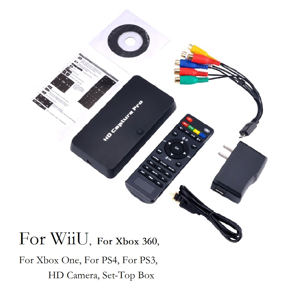 USB2.0 HDMI Video Game Capture 110-240V HD 1080P Recorder Playback Card With Remote Control For Xbox 360 For Xbox One For PS4 110 240v usb2 0 hdmi video game capture hd 1080p recorder playback card with remote control 360 for xbox one for ps4 eu plug