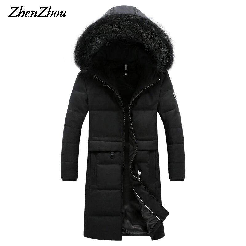 ZhenZhou M-4XL 2016 High Quality Hooded Winter Casual Thermal Long Parka Men Slim Fit Winter Jacket Men Winter Coat Men