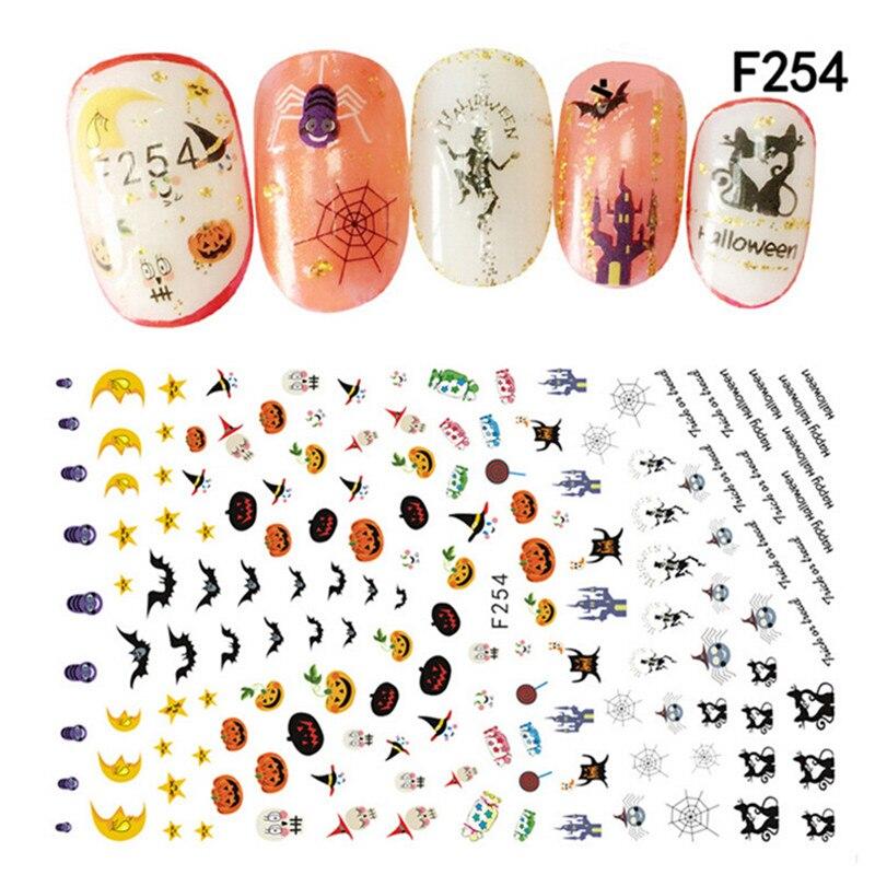 Halloween Nail Sticker Nail Decoration Horror DesignFinger ...