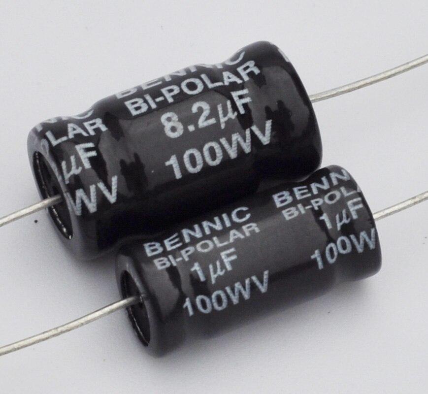 2pcs For BENNIC BI-POLAR 100WV 270uF Speaker Crossover Non-Polarity Capacitor