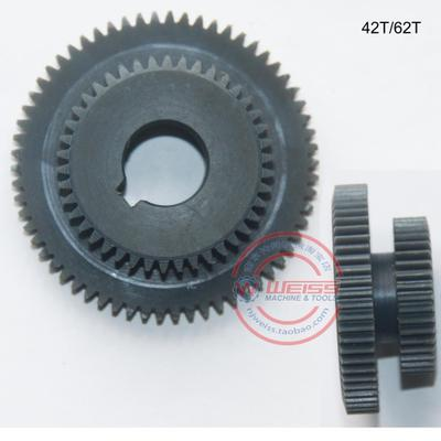 1pcs set plastic mini milling Machine duplicate gears Z42 Z62 teeth duplex gears for milling machine