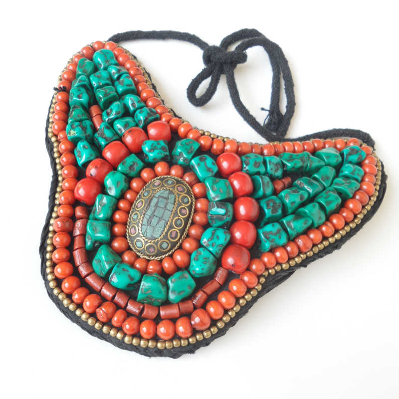 TNL168 Tibetan Necklace Fashion big statement pendant Necklace Nepal colorful beaded sewed Pendants Amazing 2017 New colcom cc 520d 28mm tweeter component speakers for car audio system black pair