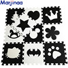 Marjinaa EVA New 10pcs 11 8 11 8 Puzzle Floor GYM Soft Kids Foam Mat Black