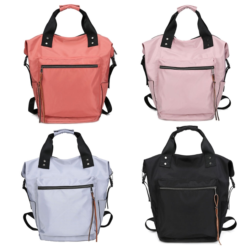 Fashion Women Waterproof Multifunctional Nylon Backpack Tote Shoulder Backpack