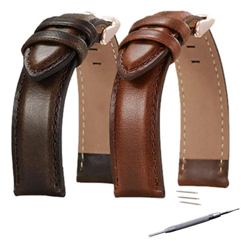 Genuine Leather Watch Strap Watchband 18mm 20mm 22mm For DW Diesel Fossil Timex Watch Band DIY Replace