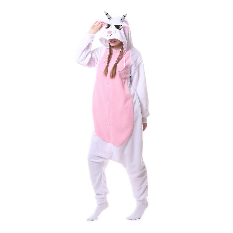 Animal jaune éléphant Kigurumi pour adulte pyjamas polaire polaire Onesie pour Halloween une-pièce combinaison siamois Cosplay Custome - 2