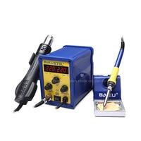 BAKU 878L2 Wind Hot Air Soldering Station 110/220V with Heat Gun and english Manual LED Digital Display