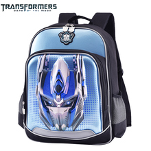 TRANSFORMERS school bags boys backpack children for kids nice cartoon style 3D embossing light in weight