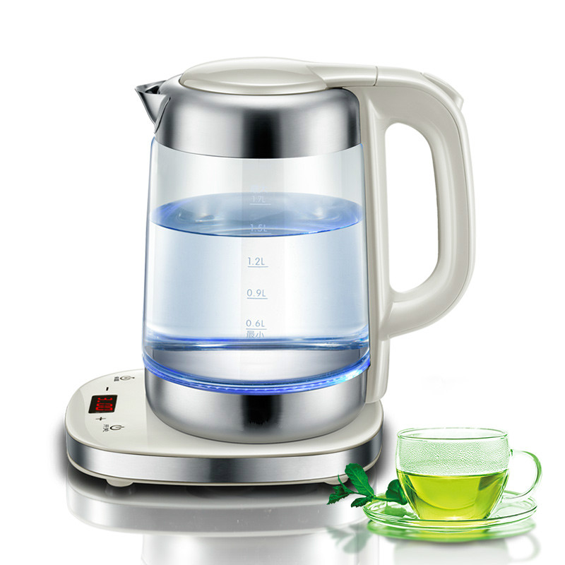 Electric kettle with thick glass insulation full automatic temperature control Safety Auto-Off Function гладильная доска великие реки ровная 1 page 9