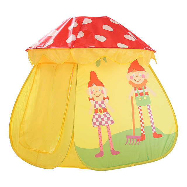 Portable Kids Girl Yellow Mushroom Play House Indoor Outdoor Pop Up Tent Toy  sc 1 st  AliExpress.com & Portable Kids Girl Yellow Mushroom Play House Indoor Outdoor Pop Up ...