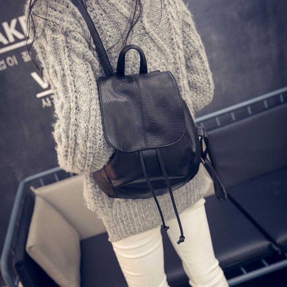 Women s Backpack Leather Satchel Shoulder School Rucksack Bag Ladies Casual Travel Backbacks Bags bolsa feminina