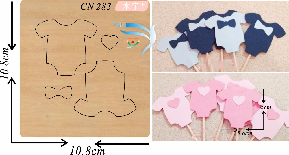 Baby clothes party card cutting die new wooden mould cutting dies for scrapbooking Thickness 15 8mm
