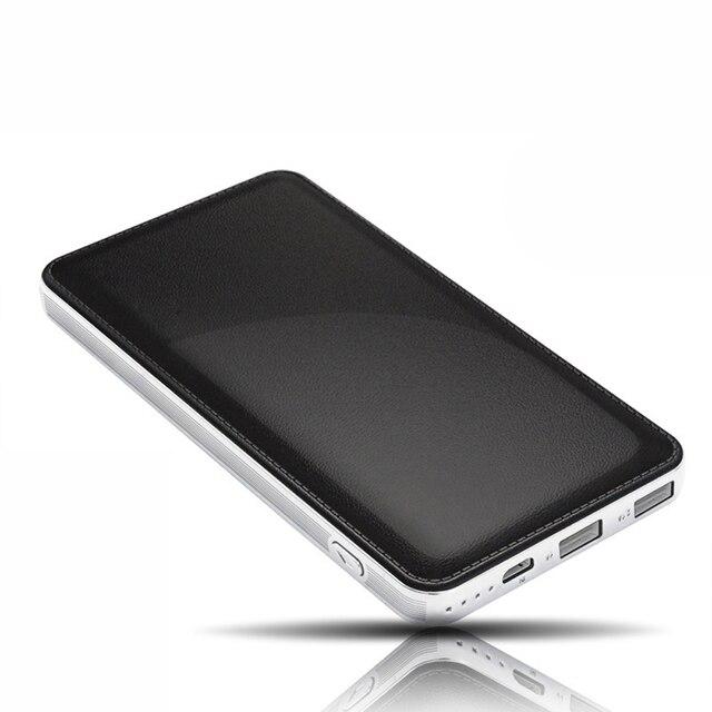 Кожаный бумажник стиль 12000 мАч Тонкий Power Bank Dual USB Резервная Батарея Портативное Зарядное Устройство Для iPhone6 Plus 5 5S мобильного телефона