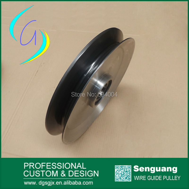 black ceramic pulley,aluminium guide pulley,v grooved guide pulley for Fine wire drawing machine chrome oxide plated steel wire guide pulley for wire industry