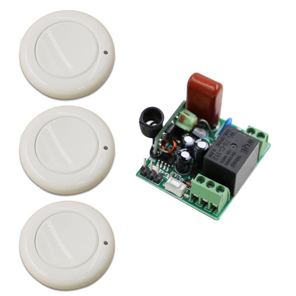 Popular Wireless 1 CH 220 V Mini Lámpara Interruptor de Control Remoto Transmiso