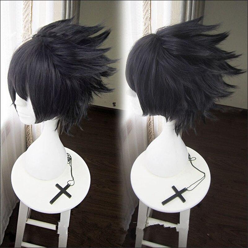Clássico anime naruto uchiha sasuke cosplay adereços peruca homens subindo cabelo preto cosplay peruca acessórios festa de halloween cabelo