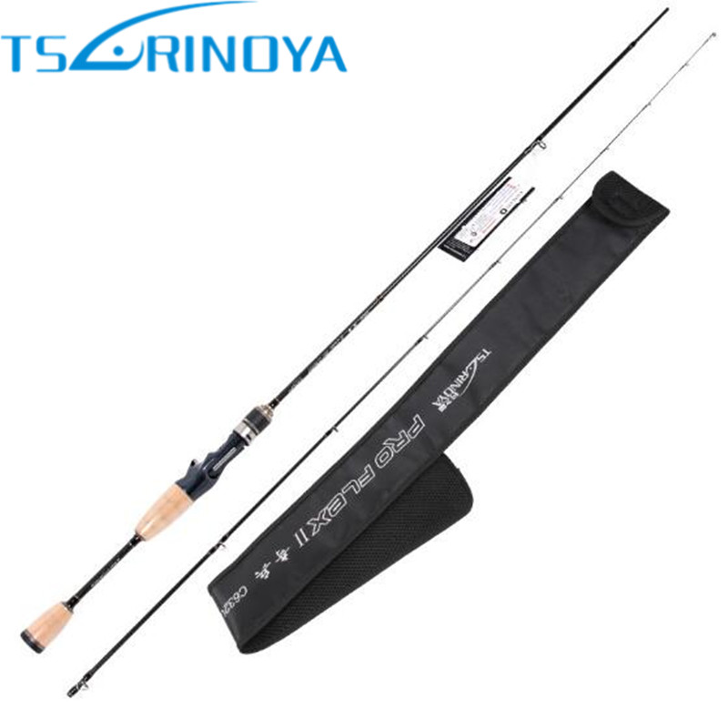 Tsurinoya 1.89m UL 2 Tips Baitcasting Fishing Rod 95g Carbon Lure Rods FUJI Accessories Fast Action Fishing Pole Canne A Peche