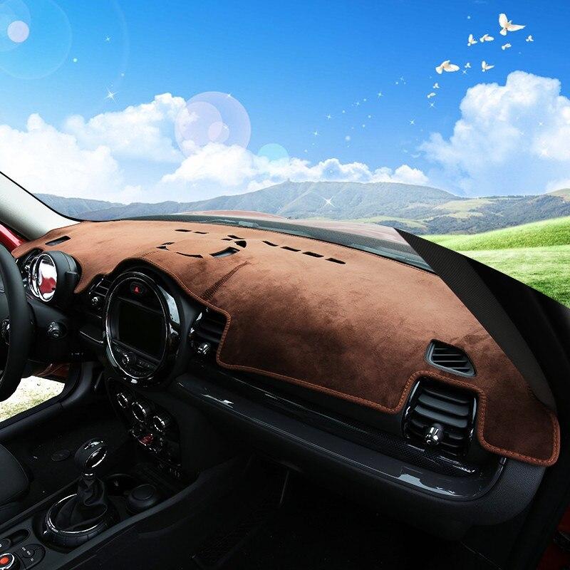 Brown Car Dashmat Dash Mat Sun Shade Dashboard Cover For Mini Cooper Clubman F54 Hardtop F55 Hatchback F56 2015 2016 2017 2018