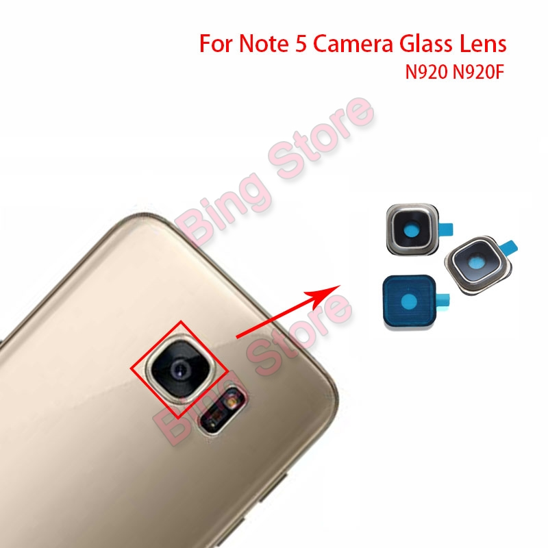 Note 5 Camera Glass Lens Cover Circle+Adhesive For Samsung Galaxy Note 5 Note5 Note 8 N920 N920F Back Camera Glass Lens