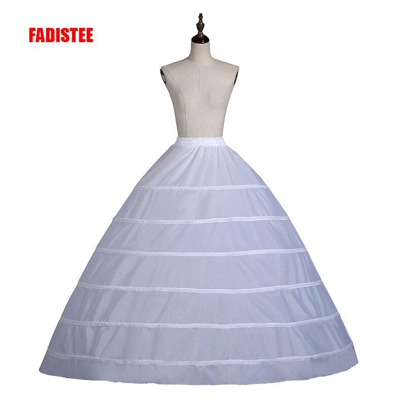 a8014fc6d FADISTEE Venta caliente 6 Hoop enaguas debajo de la falda para vestido de  fiesta vestido de novia ...