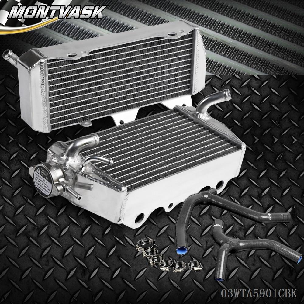 L&R Aluminum Radiator & Y Hose For KAWASAKI KX450 KX450F KX 450 F 2006 - 2007 Black brand new motorcycle accessories radiator cooler aluminum motorbike radiator for kawasaki kx450f kx 450 f 2006 2007