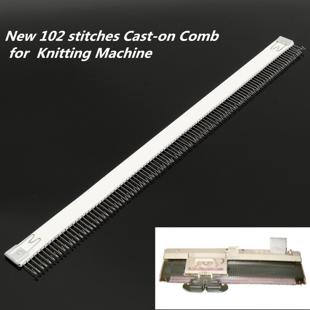 Practical 18''/46cm Stainless Steel Silver Cast on Comb Knitting Machine for all 4.5mm/9mm Brother Knitting Machine needle part