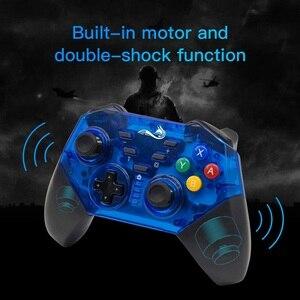 Image 2 - בקר אלחוטי עבור Nintendo מתג Windows PC Bluetooth Gamepad משחק ג ויסטיק פרו מובנה ג יירו כפול הלם Dropship