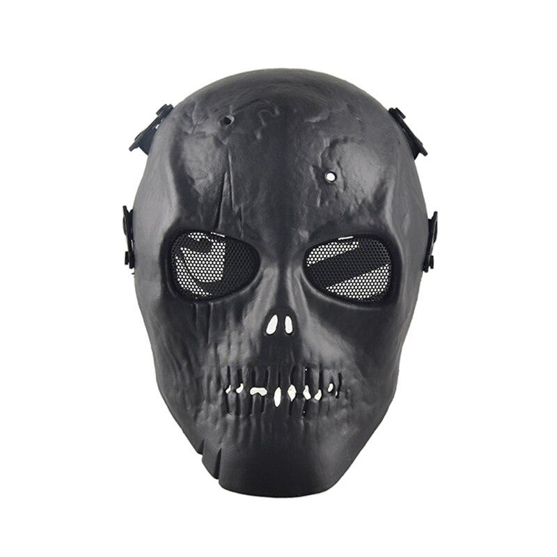 Outdoor Skull Skeleton Paintball BB Full CS Face Protect Mask Shot Helmets Foam Padded Inside Eye
