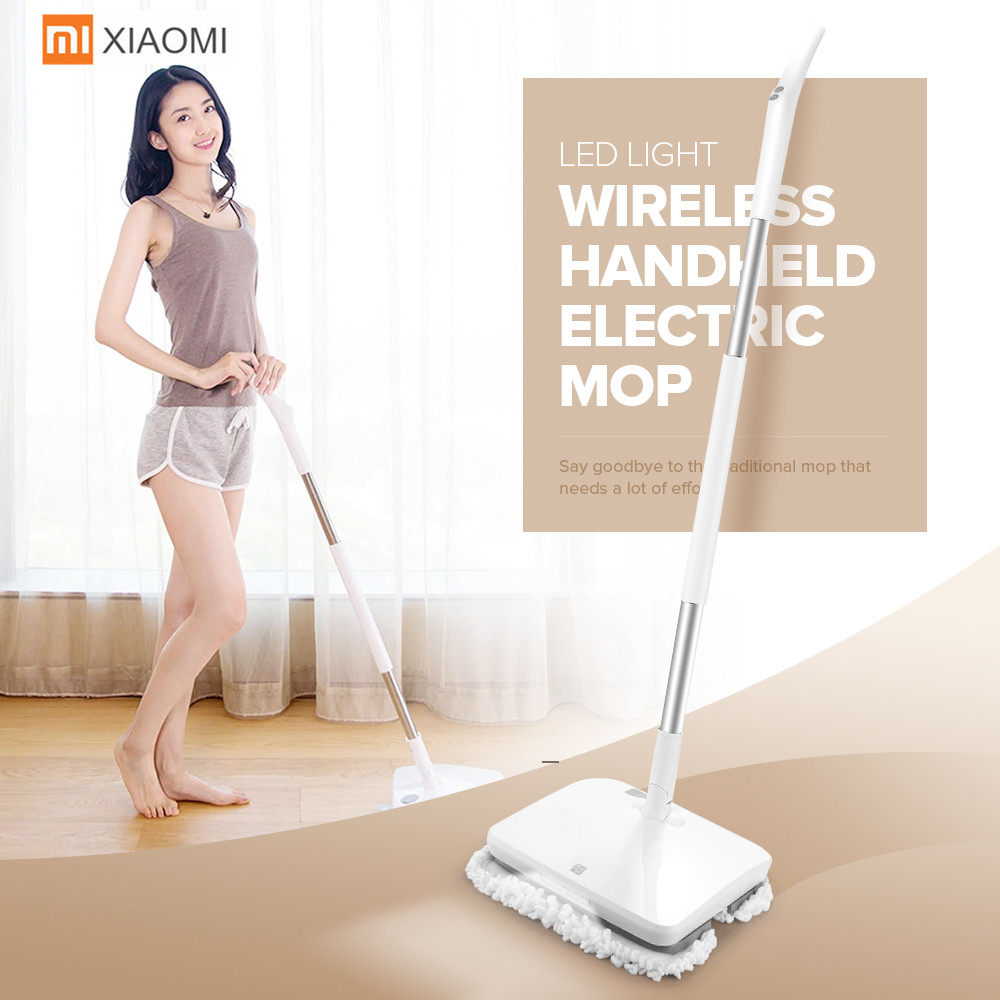 Original Xiaomi Mopping Robot Vacuum Cleaner Wireless Handheld Electric Wiper Washers Wet Mopping Vibration Scrubber Machine swdk wipe mopping machine sweep floor robot home fully automatic wireless intelligent electric mop vacuum cleaner free shipping