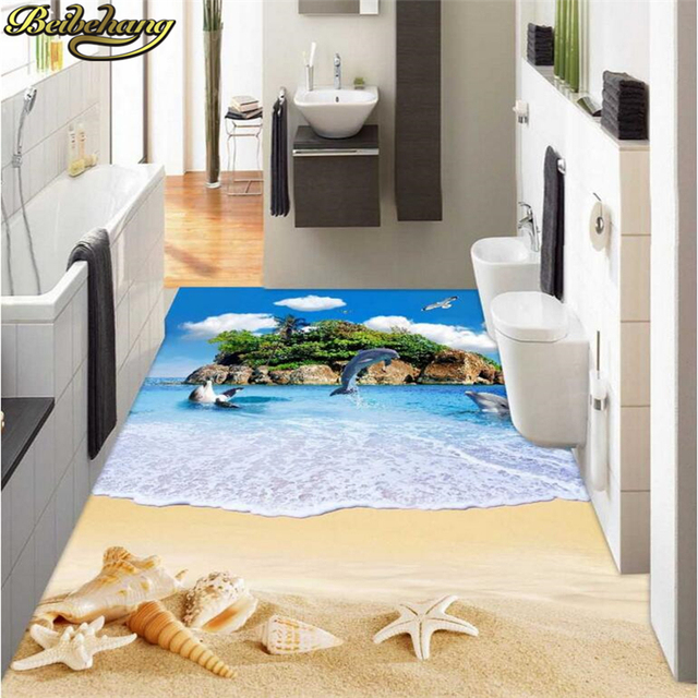 beibehang custom oceaan eiland strand schelpen vloer