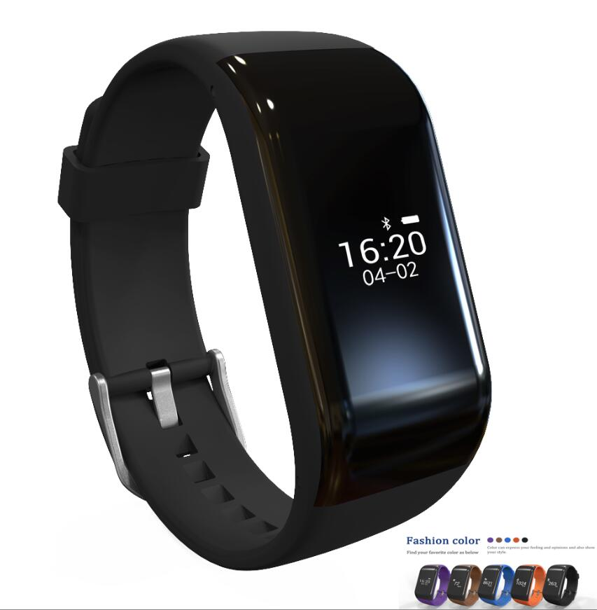 R1 Smart Bracelet Heart Rate Monitor Band Pedometer Sports Activity Tracker Monitor Touch Fitness Watch Wristband