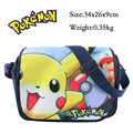 2017 Anime Pokemon Cartoon Pikachu Messenger Shoulder School Bag For Students Kids Children Boys Girls Canvas Bags