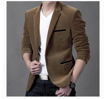7f0c185ccb3c 2018 мужской модный брендовый блейзер в британском стиле, повседневный  приталенный ...