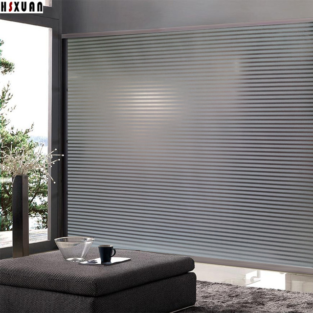 Self-Adhesive glue stripe window Film privacy 90x100cm frosted translucent door decoration window stickers Hsxuan & Self Adhesive glue stripe window Film privacy 90x100cm frosted ...