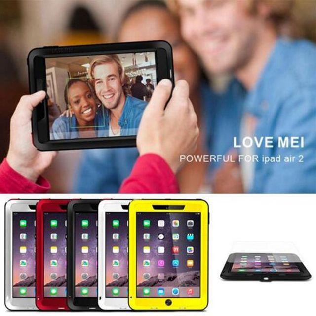 Любовь Мэи Противоударный Водонепроницаемый Гибридный Мощный Чехол Для iPad Mini 4 iPad Air 2 iPad Pro 9.7 Temperd Стеклянный Экран Протектор