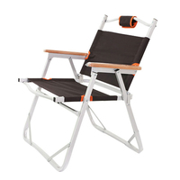 Folding Beach Chair Moon Shape Fishing Outdoor Furniture Al Ultralight Chairs Foldable Stool Double Layers Oxford Camping Chair