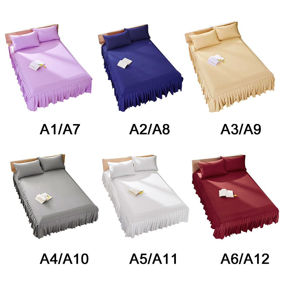 Bed Cover Skirt Quilted Mattress Protector Bed Sheet Pad Mattress Cover Thickening Plant Cashmere Sanding For Mattress