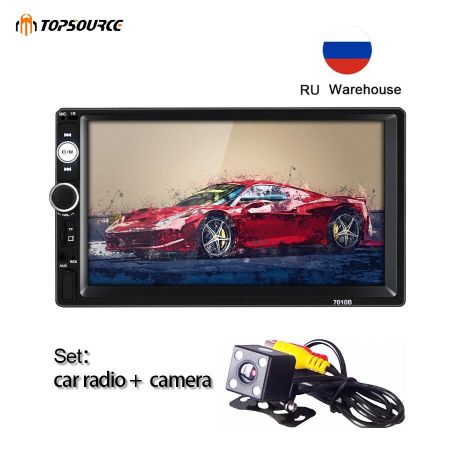 Autoradio TOPSOURCE 7010B général 2 Din MP5 7 pouces écran tactile HD lecteur multimédia audio prise en charge Bluetooth USB