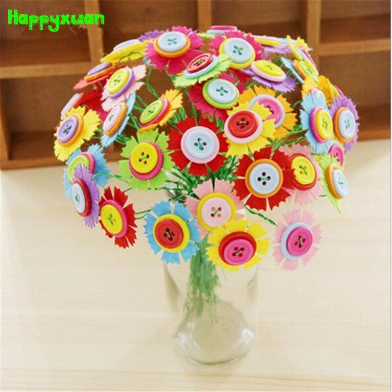happyxuan botn diy kits de artesana de flores nios de jardn de infantes de juguetes creativos para nios de regalo hecho a m