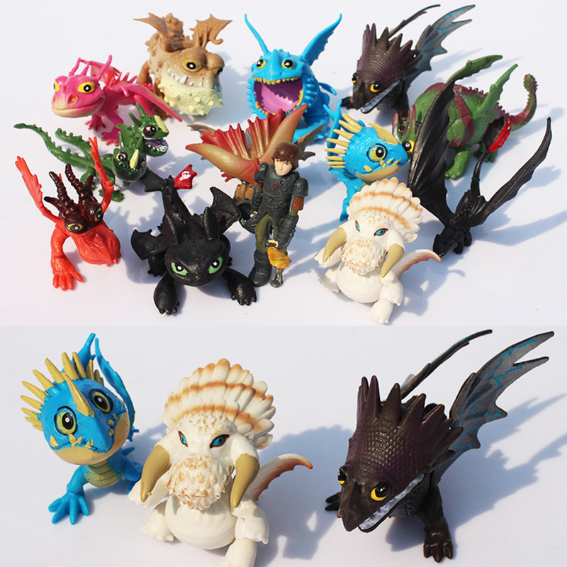 13pcs How To Train Your Dragon 2 Pvc Toothless Night Action Figure Toy Deadly Nadder Hageffen Gronckle Collectible Toy For Gift Action Toy Figures Aliexpress