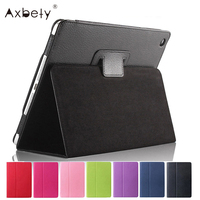 For New Ipad5 Litchi Pattern Magnetic Sleep Wake UP Flip Leather Smart Stand Case For Apple