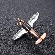Homens topo simples de cristal pequenos aviões broche feminino strass pino alta qualidade festa casamento presente avião broches h1280