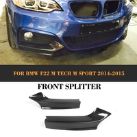 2 Series Carbon Fiber Front Bumper Splitter For BMW F22 M Sport 2 Door Coupe Convertible 2014 2017 M235i M240i xDrive