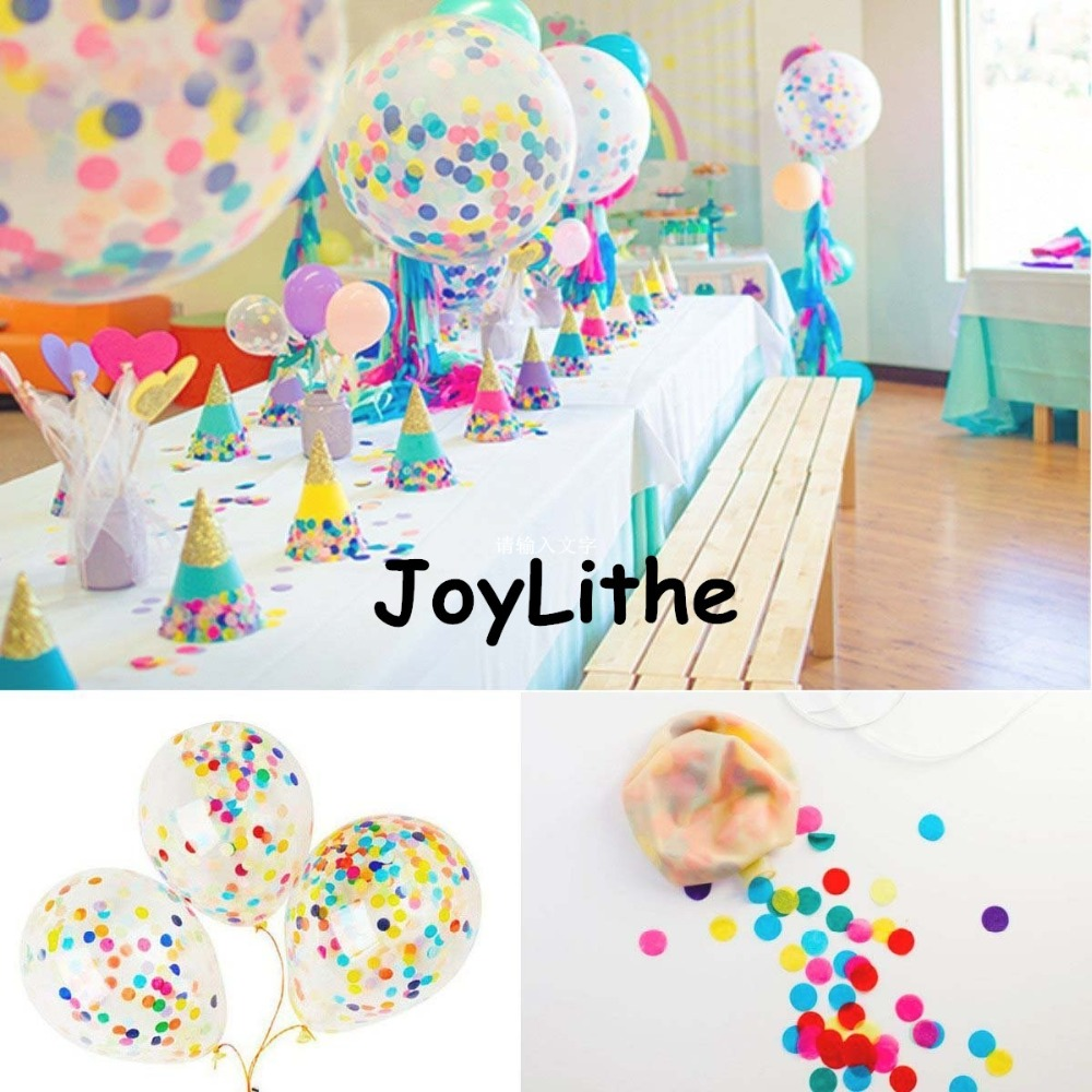 3pcs/lot Foballoon Party 18inch Wedding Baby Shower Bridal Shower Rainbow Confetti Balloon Clear Latex Balloon with Confetti