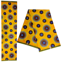 African Wax Cloth For Party Nigeria Ankara 100% Cotton Fabric Real Dutch 6 Yards
