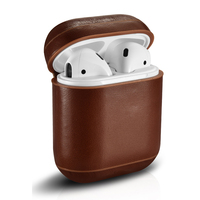 For AirPods Case Vintage Genuine Leather Case For Apple Airpods Luxury Protective Storage Bag