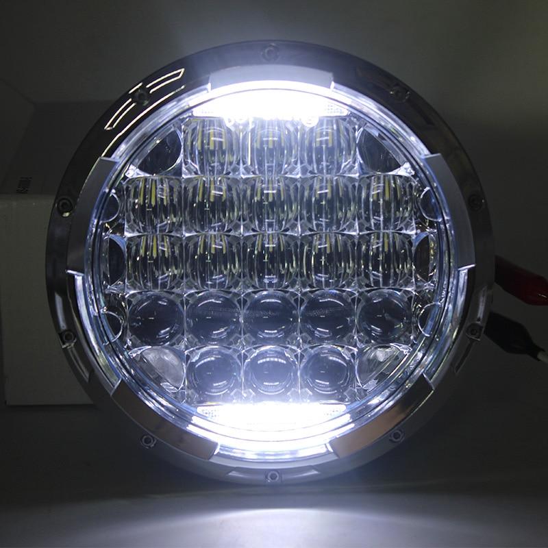 2 Pcs 7 Inch 5D Projector 126W LED Headlights DRL High Low Beam For Jeep Wrangler JK TJ FJ FJ cruiser Hummer